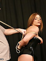 Sexy Kali Rod gets spanked and caned before her forced vibe finale