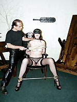 Sexy Eva endures punishment and humiliation from Master Savage