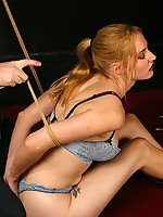 Wax and oarswoman aid soften hot Veronika`s bound body