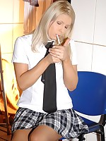Pretty good perverted schoolgirl by fits pissing at hand cotton panties