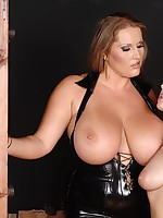 Breasty Laura M flogs cute, young, nude, tied-up Nelli