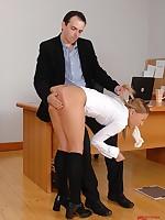 Outcast schoolgirl gets punished