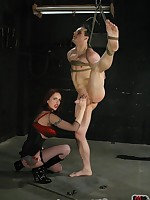 The redhead mistress humiliated slaveboy