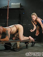 Extreme CBT and full horizontal suspension for a helpless male sub