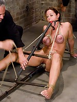 Girl gagged and bound in rope