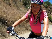 Moutain Biking Slut gets fucked hard and disgraced!