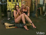 Andy Brown and Kathia Nobili in lesbian domination