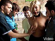 Bizarre Movies Blonde in exciting bondage act and