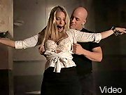 BDSM Movies Blonde fucked in bondage act and