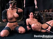 Two hot girl next door sluts bound and tormented.
