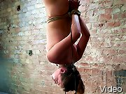 Innocent girl next door is bound, made to cum. Upside down, spread, neck play and huge orgasms! Totally helpless and humiliated!
