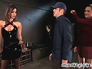Isis Love and Gwen Diamond train slave boy to fuck