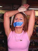 Teens are tied taped licked and gagged