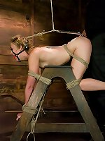 Sexual BDSM Helpless blonde gets bondage and