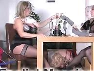 Hard spanking & foot worship