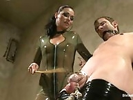 Real life mistress brings her slave to The Armory