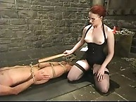 Mistress Claire Adames diciplines her bad boy