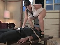 Huge tits and Ass in his slave face