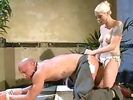 Mistress destroyed male asshole by strapon