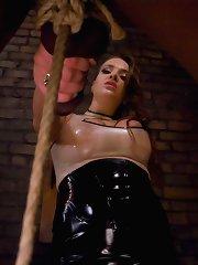 Sadistic goddess flogs, ass fucks, and drains her slave relentlessly!