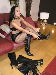 A slave watches to domina