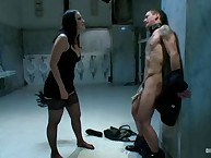 Kimberly Kane flogs, spanks and gives him a thorough helping of CBT