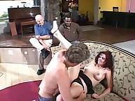 Busty brunette Wife Scarlet Licked and Banged!