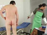 Femdom sluts gets a new villein for humiliation