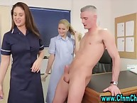 The nurses get cfnm facial