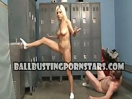 Tessa Taylor kicked the brush subby's balls.