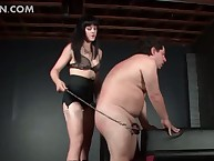 Deviant gay blade submitted close by BDSM pain takes arse lashing