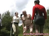 Ballbusted deviant grandpa