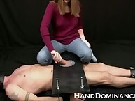 Stingy inception Dominatrix Milks Slave Bounce Tramp less this one-of-a-kind cock stroking flick
