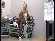 The tutor domme instructed her foot slave