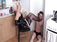 The mistresses tormenting a slaveman