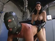 Strapon torture with sexy goddes