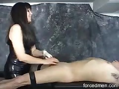 Long-haired mistress got horny and wants an action