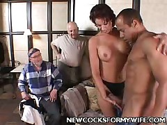 BBW dommy have slave and plays with him