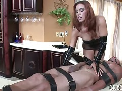 Dominatrix love to trample at their body