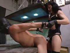 Dirty sex games with perverted dominatrix and her slave