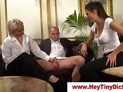 Cuckold action with hard fuck