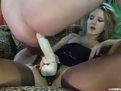 Mistress with her slave in anal action