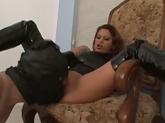 Hard smothering and face stomping for helpless sub dude