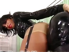 Mistress blew and fucked sub with strapon
