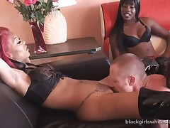 Several black sluts were liked by slave