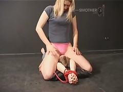 Slave was tied and got smothering