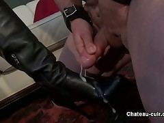 Cuckold guy was drilled in his asshole