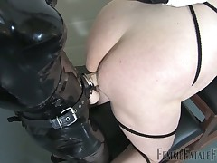 Dominatrix ass licked hard and deep by slave