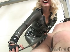 Blonde loves to spend her time with her slave