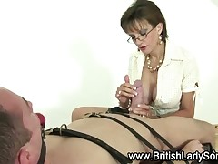 Dude got to slavery and got BJ from mature mistress